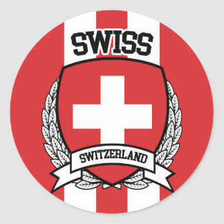 Sticker Rond Suisse