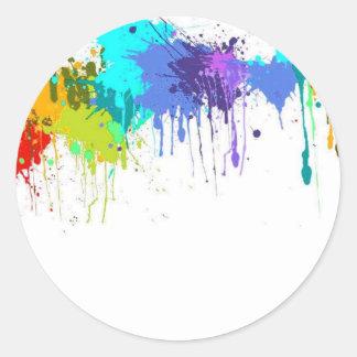 Sticker Rond sujets d'éclaboussure de paintball