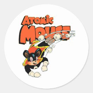 Sticker Rond Super héros mignon d'art de bande dessinée de