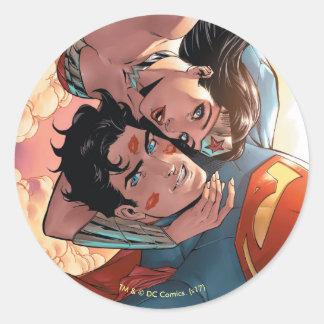Sticker Rond Superman/variante comique de la couverture #11