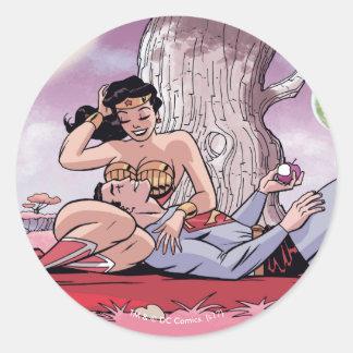 Sticker Rond Superman/variante comique de la couverture #14