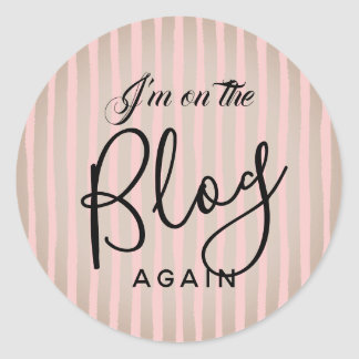Sticker Rond Sur le blog encore : Rose et café