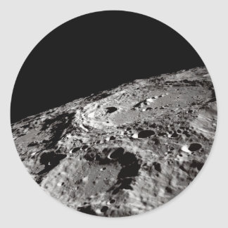 Sticker Rond surface lunaire