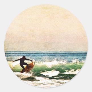 Sticker Rond Surfer5