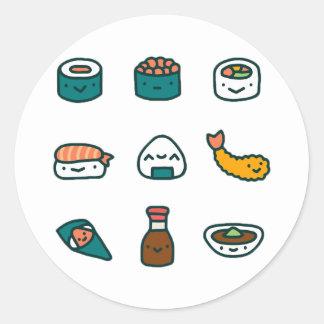 Sticker Rond Sushi - aléatoires