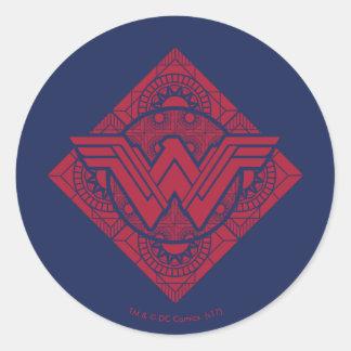 Sticker Rond Symbole amazonien de femme de merveille