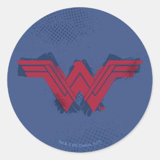 Sticker Rond Symbole balayé par | de femme de merveille de