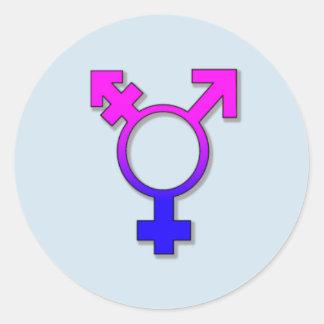 Sticker Rond symbole de transsexuel