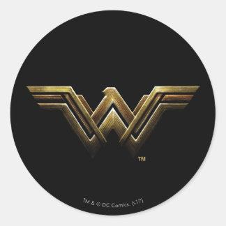 Sticker Rond Symbole métallique de femme de merveille de la