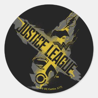 Sticker Rond Symboles de ligue et d'équipe de justice de la