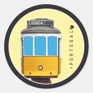 Sticker Rond Symboles de tramway du Portugal - de Lisbonne