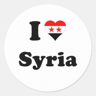 Sticker Rond Syria Loving