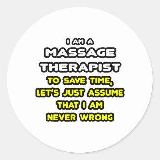 Sticker Rond T-shirts et cadeaux drôles de thérapeute de