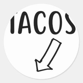 Sticker Rond Tacos