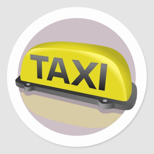 Sticker Rond taxi
