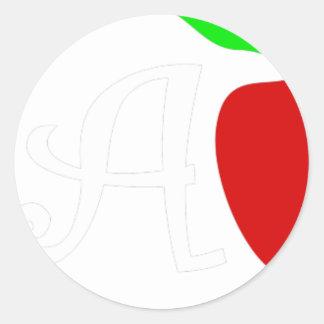 Sticker Rond teach2