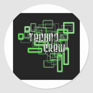 Sticker Rond techno crew
