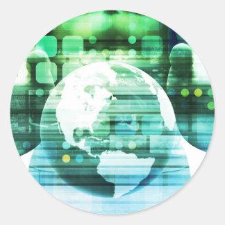 Sticker Rond Technologie futuriste de la Science comme art de