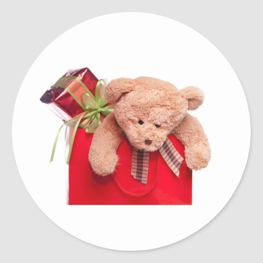 Sticker Rond teddy bears and gifts