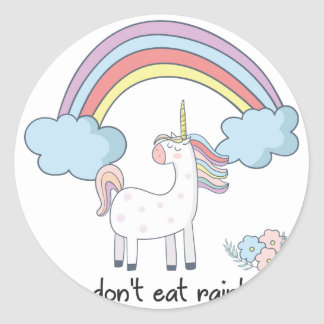 Sticker Rond Tee - shirt de licorne