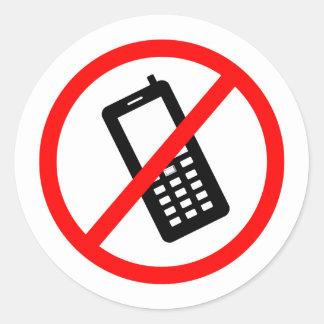 Sticker Rond Téléphone n'a pas permis, arrête votre portable