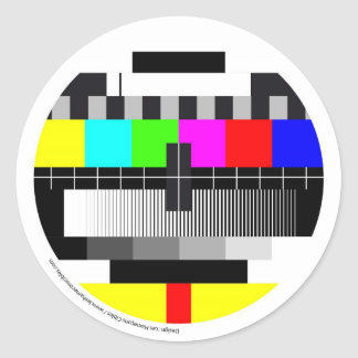 Sticker Rond Television / Télévision / TV