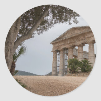 Sticker Rond Temple grec chez Segesta, Sicile