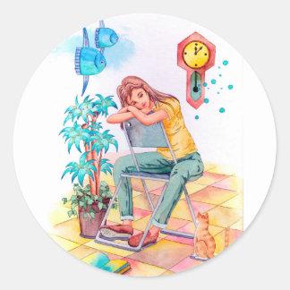 Sticker Rond Temps de repos