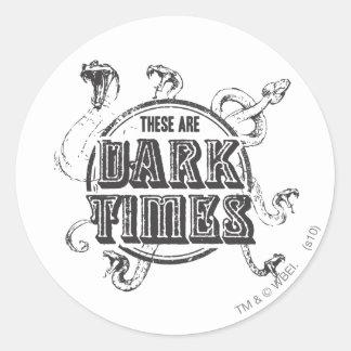 Sticker Rond Temps d'obscurité du charme | de Harry Potter