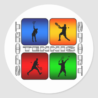 Sticker Rond Tennis spectaculaire (mâle)