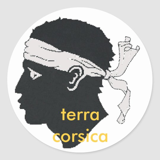 Sticker Rond terra Corse de stiker