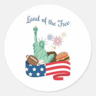 Sticker Rond Terre du libre