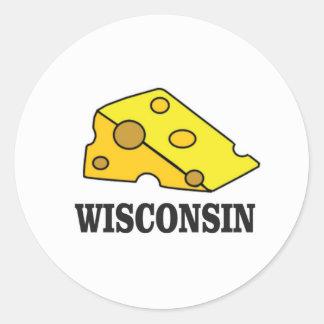 Sticker Rond Tête de fromage du Wisconsin