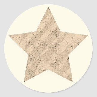 Sticker Rond Texture peinte étoile de 5 points
