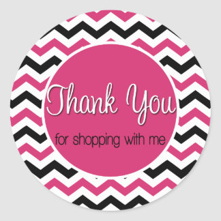 Sticker Rond Thank you for shopping with moi