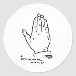 Sticker Rond The expert at the card table (Hand Criminel)