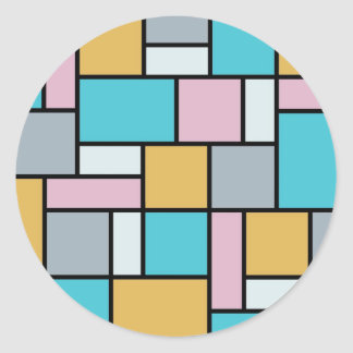 Sticker Rond Theo van Doesburg - composition 17 - art de