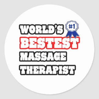 Sticker Rond Thérapeute de massage de Bestest du monde