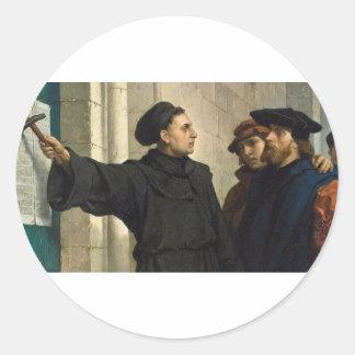 Sticker Rond Thèse de Martin Luther 95