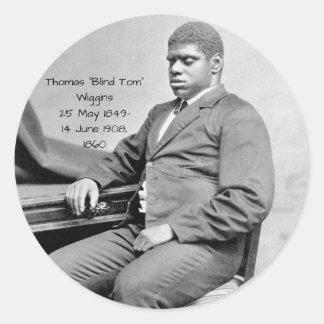"Sticker Rond Thomas ""Tom aveugle"" Wiggins, 1860"