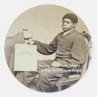 "Sticker Rond Thomas ""Tom aveugle"" Wiggins, 1861"