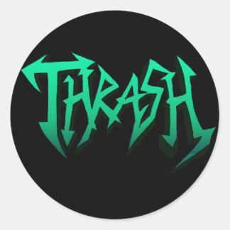 Sticker Rond Thrash