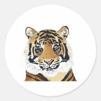 Sticker Rond tiger paint
