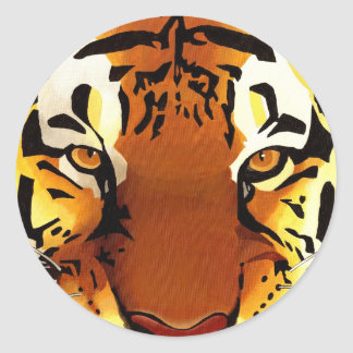 Sticker Rond Tigre