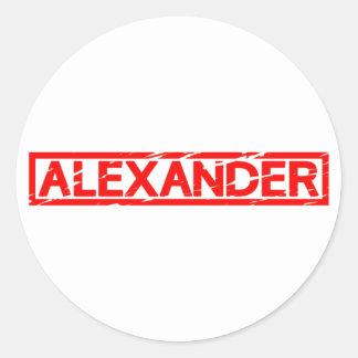 Sticker Rond Timbre d'Alexandre