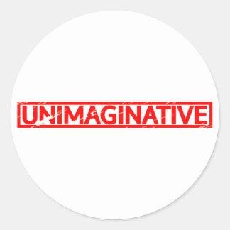 Sticker Rond Timbre dénué d'imagination