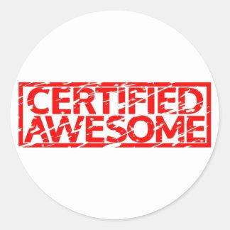Sticker Rond Timbre impressionnant certifié