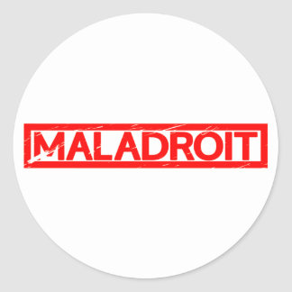 Sticker Rond Timbre maladroit