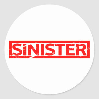 Sticker Rond Timbre sinistre