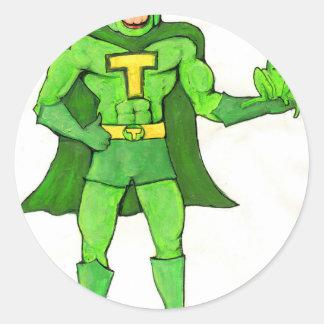 Sticker Rond Toadman et patelineur